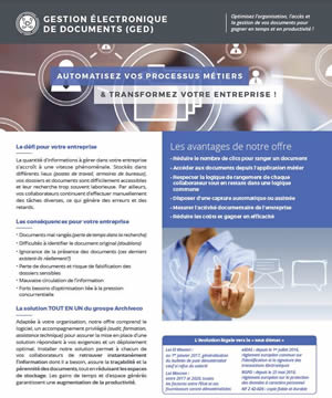 brochure ged packagée